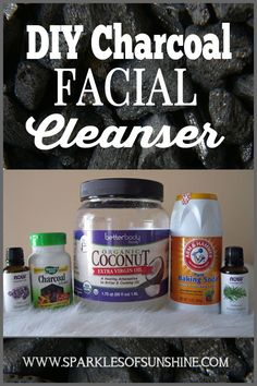 Know what you're putting on your skin and make your own DIY charcoal facial cleanser. Check out these easy recipe for a charcoal facial cleanser at Sparkles of Sunshine.