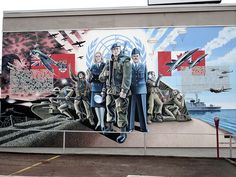 Pembroke, Ontario pays tribute to nearby CFB Petawawa and the many serving members there, with this amazing mural.