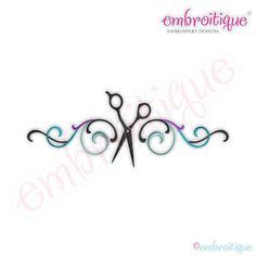 Flourish Border with Scissors Embroidery Design by Embroitique, $2.99