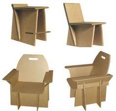 Cardboard design chairs