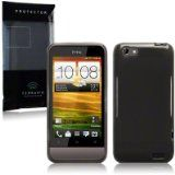 HTC One V TPU Gel Skin Case / Cover - Smoke Black Part Of The Qubits Accessories Range