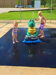 Our Alligator is one of our top sellers for a splash pad installation.