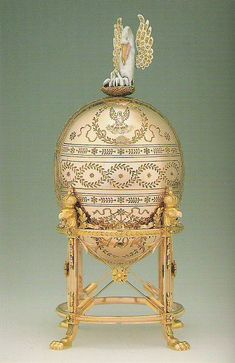 The Dowager (or Imperial Pelican) Fabergé egg, is a jewelled Easter egg made under the supervision of the Russian jeweller Peter Carl Fabergé in 1898. The egg was made for Nicholas II of Russia, who presented it to his mother, the Dowager Empress Maria Feodorovna on Easter 1898.
