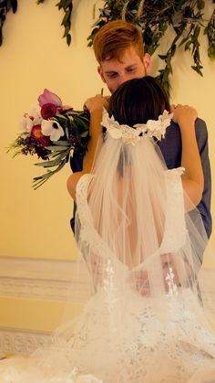 Photoshoot AI-DU. Tocado con velo de novia.