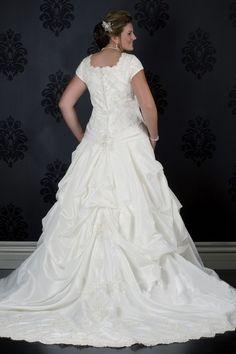 large women wedding gown
