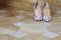 My wedding shoes: Louboutin Fifi Strass. #bridal #cinderella #louboutin #loubies #christianlouboutin #bride #shoes #shoeholic #makingof #wedding #casamento #sapatos #noiva #luxury