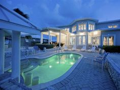 Grand Cayman villa rental - Pool with swim up bar stools