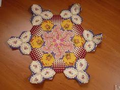 Gorgeous fussy cut hexagon block by Sharron [Dragonfly Gypsy].