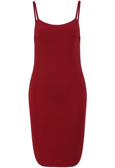 Red Spaghetti Strap Backless Bodycon Dress 20.67