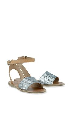 Thalpori In Silver & Natural by Ancient Greek Sandals for Preorder on Moda Operandi