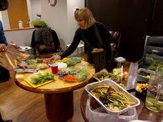 Making a vegan raw food wrap is easy.