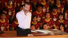 Nick Vujicic says he was able to overcome his disability through his Christian faith. he gives motivational speeches around the world and shares how God changed his perspective of life. Nick Vujicic, Motivational Speeches, Political Views, He Is Able, Christian Faith, Maine, Religion, Politics, Disability