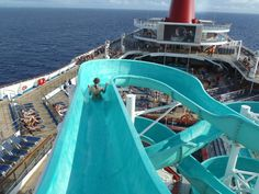 Carnival Elation 2012  What you know about a waterslide in the middle of the ocean??