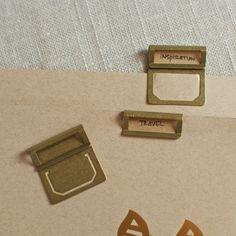 brass index clips