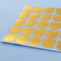 50 Metallic Gold Cat Stickers Cat Planner by StickersDesigns