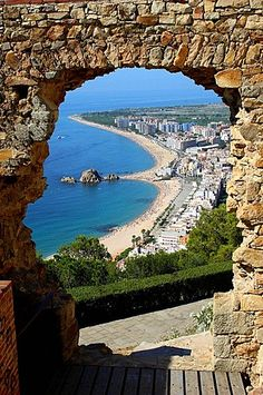 View of Blanes, Costa Brava, La Selva, Girona province, Catalonia. Spain And Portugal, Madrid, Spain Travel, Beautiful Beaches, Strand, The Great Outdoors, Barcelona, Tourism, Scenery