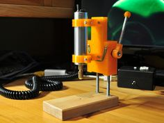 Mini Drill Press for PCB Drill by ftobler - Thingiverse