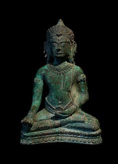 Adorned Buddha  Khmer, Angkor Period  Style of the Bayon, 12th-13th century  bronze.