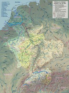 Het stroomgebied van de Rijn(klik op de kaart voor een vergroting)
