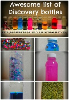 Everything and nothing: Activities for the Preschool Discovery bottles: when learning is fun - Bottles of discovery when exploring th ...