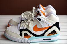 Nike Air Tech Challenge II- White, Kumquat, Soft Pearl, and Black 2014