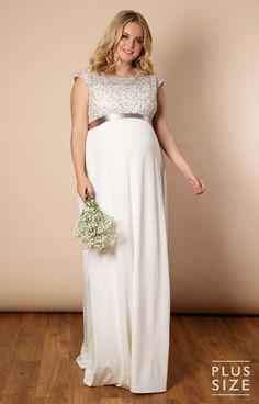 f727f8c360af4 Mia Plus Size Maternity Wedding Gown in Ivory by Tiffany Rose Maternity  Wedding, Pregnant Wedding