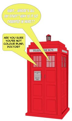 Blank Card  Colour blind Doctor Who by Geek Amour on Etsy, $4.00