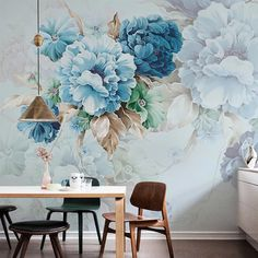 Details: This adorable, oversized peony wallpaper design adds an enchanted feel to any space! Peony Wallpaper Smooth, matte finish Self Adhesive Vinyl x Kitchen Wallpaper, Wall Wallpaper, Wallpaper Feature Walls, Wallpaper On The Ceiling, Interior Wallpaper, Art Mural, Wall Murals, Cheap Home Decor, Wall Design