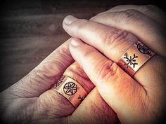 Artizani romani | Mestesugari romani | Inele din cupru cu simboluri sacre romanesti