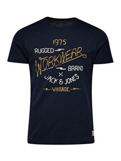 Buy men's clothing and shoes at the JACK & JONES official online UK shop.  VINTAGE PRINT T-SHIRT ...