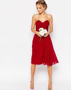 Imagen 4 de Vestido palabra de honor a media pierna de ASOS WEDDING