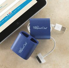 Keep cords under control in purses, briefcases and luggage. The soft, flexible material makes it easy to wrap and store earbuds, USB cords and cellphone chargers.