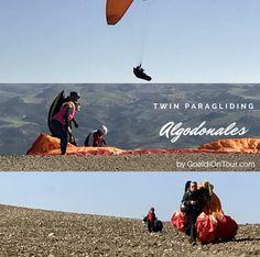 """""""Wenn der Vater mit dem Sohne...""""  Twin Paragliding in Algodonales"""
