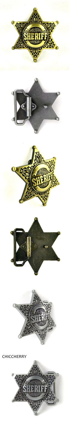 New Fashion Mens Sheriff Star Belt Buckles For Men Accessories Boucles De Ceinture Hommes Western Cowboy Metal Fivela De Cinto