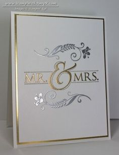 Gorgeous wedding card using Stampin' Up! products.