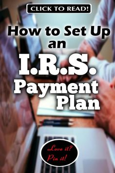 Set up an IRS Payment Plan with these form 9465 instructions! Worrying about taxes is stressful. Most people have no idea just how easy it is to set up an payment plan. The media paints an evil picture of the IRS, but really they just want to get paid. Tax Payment Plan, Tax Debt Relief, Business Tax Deductions, Tax Help, Financial Organization, Create A Budget, Making Extra Cash, Budgeting Finances, Personal Finance