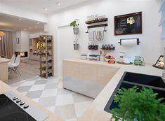 Zdjęcie projektu Puk 3 WOE1103 Small Buildings, Double Vanity, Bathroom, Kitchen, Table, House, Furniture, Home Decor, Home Layouts