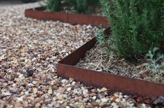 Metal landscape edging is the little black dress of a garden: elegant, strong yet understated, tailored and timeless. A long-time design secret of professi