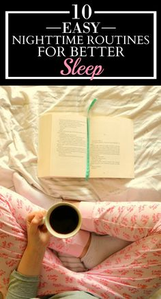These 10 easy nighttime routines for better sleep are AWESOME! I just tried the 4-7-8 technique and I was already falling asleep! I LOVE THIS! I'm SO pinning for later!