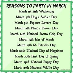 Reasons to Party in