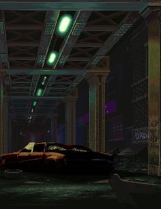 Ünder the bridge downtown Pixel Art Gif, Arte 8 Bits, Neon Noir, Pixel Animation, 8 Bit Art, Animated Gifs, Vaporwave, Retro Waves, Aesthetic Gif