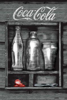 Poster: Coca-Cola - black box online te koop. Bestel je poster, je schilderij of soortgelijk product Maxi Poster
