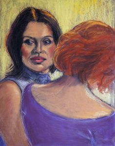 """One of my own pastels at Saatchi Online """"Friends"""""""