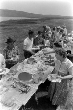 After church services, many congregations would have dinner on the grounds. Church families would pool resources together to create large suppers for all to share. This helped the families without much to bring as well as strengthening the bonds within the church..