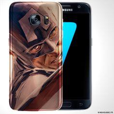 Coque Samsung S7 Portrait Captain America   Housse de Tel S7.   CaptainAmerica  Samsung 0989f12ac97f