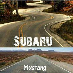 Subie vs Mustang
