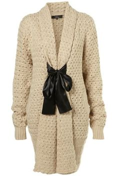 Ribbon Tie Cardigan by Rare** - Knitwear - Clothing - Topshop - StyleSays