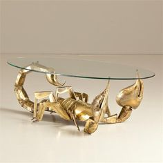 A Gilt Metal and Glass Illuminated Scorpion Table . this is sooo cool ! Scorpio Art, Scorpio Love, Zodiac Signs Scorpio, All About Scorpio, Scorpio Season, Gold G, Poster Drawing, Wine Signs, Best Relationship
