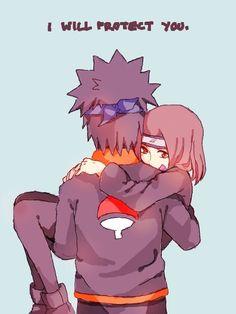 Obito Uchiha and Rin Nohara #Naruto Obirin