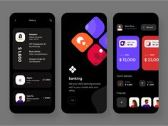 Bank app by Sudhan Gowtham for uigate on Dribbble